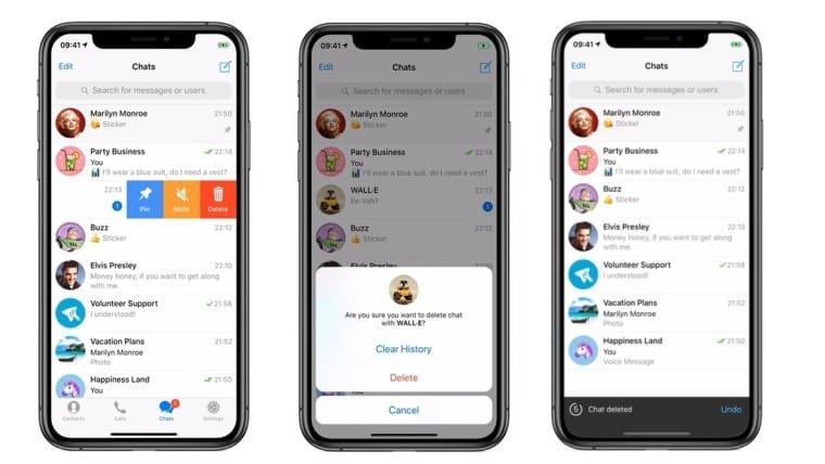 بازیابی چت های پاک شده در تلگرام